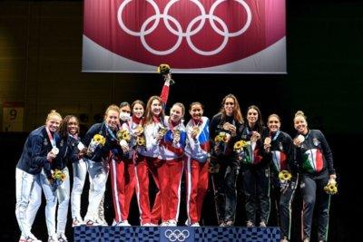 Олимпийское золото Инны Дериглазовой в командных соревнованиях в Токио